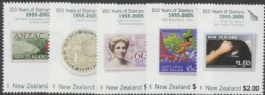 NZ SG2791-5 150 Years of New Zealand Stamps (3rd issue) set of 5